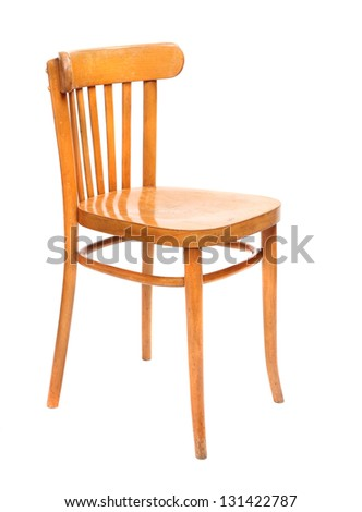 Classic wooden chair on a white background. - stock photo