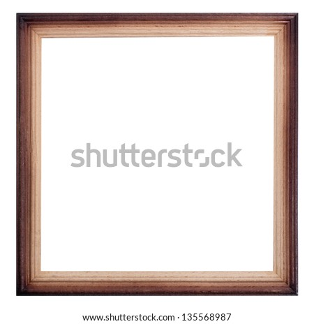 Classic wooden frame - stock photo