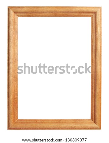Classic wooden frame isolated on white with clipping path - stock photo