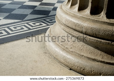 Classical Ancient Rome Architectural Detail - stock photo