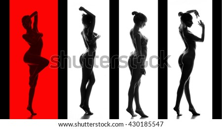Classical artistic nudity style picture of woman.  - stock photo