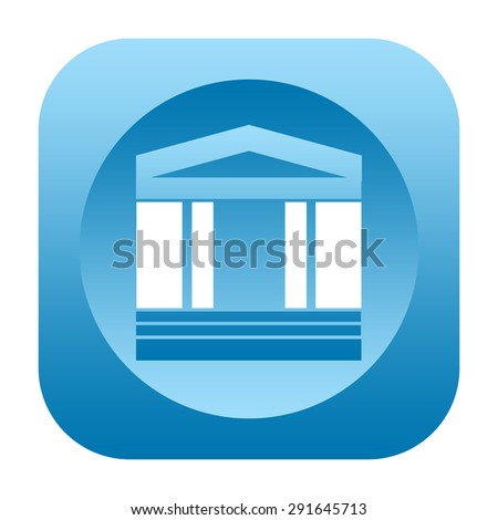 Classical building icon - stock photo