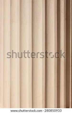 Classical column shadow - stock photo