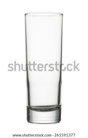 classical glass for cocktail empty, on white background - stock photo