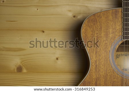 Classical Guitar Horizontal - stock photo