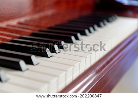 Classical Piano Musical Instrument - stock photo