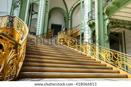Classical spiral staircase - stock photo
