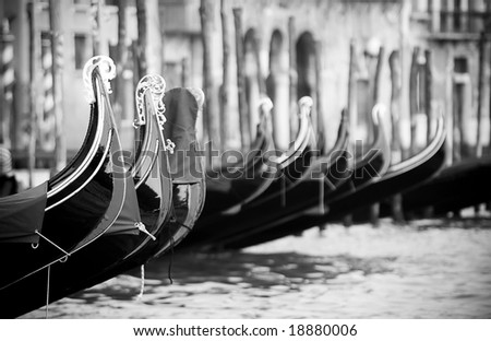 Classical Venice black and white photo - stock photo