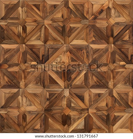 Classical wooden parquet seamless texture - stock photo