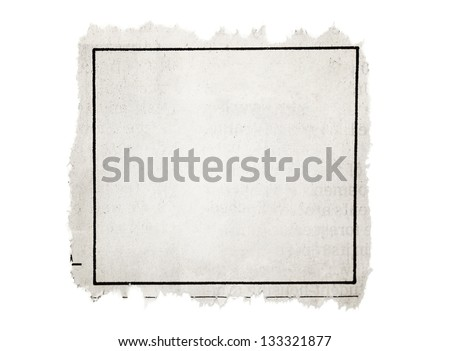 Classified Ad, part of newspaper - stock photo