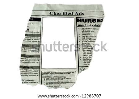Classified Ads concept - stock photo