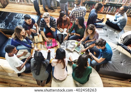 Classmate Classroom Sharing International Friend Concept - stock photo