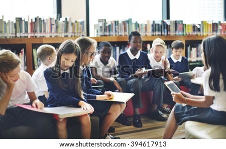 Classmate Educate Friend Knowledge Lesson Concept - stock photo