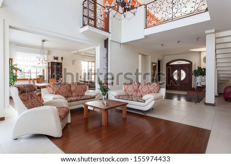 Classy house - original and classical home interior - stock photo