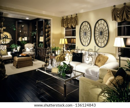 Classy Living Room  Architecture Stock Images,Photos of Living room, Bathroom,Kitchen,Bed room, Office, Interior photography. - stock photo