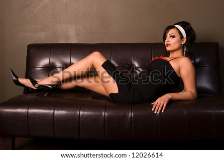 Classy Pin-up girl. - stock photo