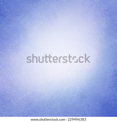 classy sky blue background with dark border and white center, old distressed vintage blue background with faded white color and vintage grunge texture - stock photo