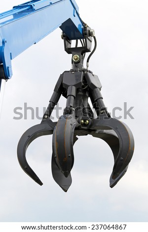 Claw crane heavy machinery equipment - stock photo