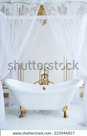 Claw foot tub. - stock photo