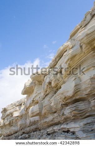 Clay canyon, there is the river - stock photo