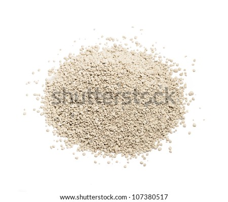 Clay Cat Litter Isolated on White Background - stock photo