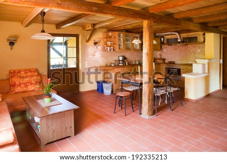 clay courtyard Apartment - stock photo