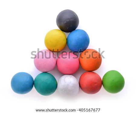 Clay for children on isolated background. - stock photo