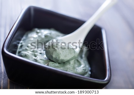 clay for face and body - stock photo