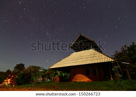 Clay house in north of thailand - stock photo