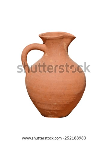 clay pitcher - stock photo