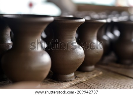 Clay pottery  - stock photo