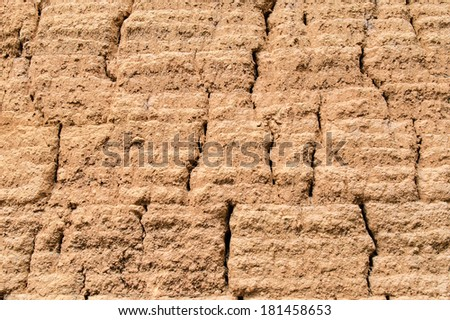 Clay Wall Texture Background - stock photo