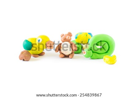 clay work activity for improve fine motor skill and attention in children - stock photo