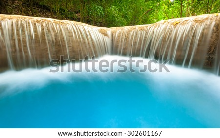 Clean and beautiful background of flowing water. Outdoor nature photography background - stock photo