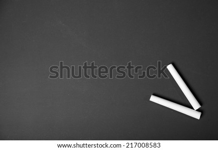 Clean blackboard - stock photo