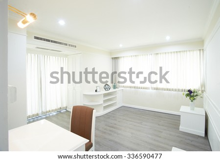 clean bright white room - stock photo