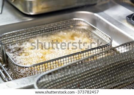 clean deep fryer - stock photo