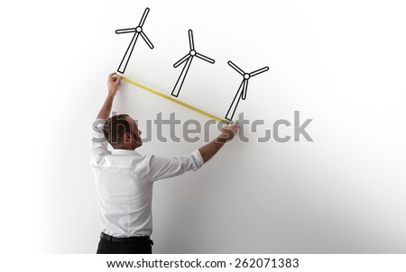 Clean energy and wind power. - stock photo