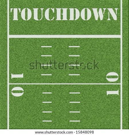 Clean football field background - stock photo