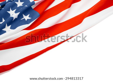 Clean image of US flag with place for your text - stock photo