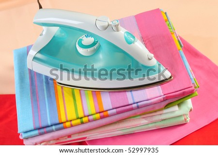 Clean laundry. - stock photo