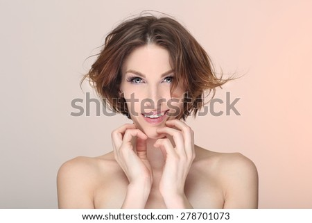 Clean Lifestyle Image of a Beautiful Woman - stock photo