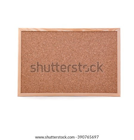 Clean Pin board over isolated white background - stock photo