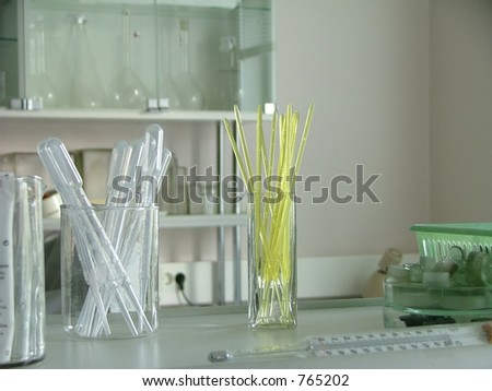 clean pipettes - stock photo