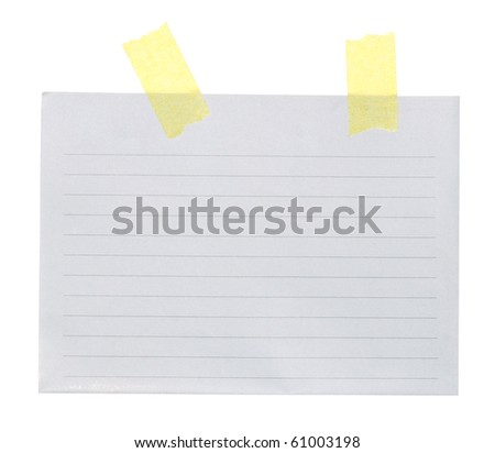 Clean sheet of paper with sticky ribbons - stock photo