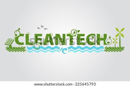 Clean tech - stock photo
