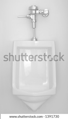 Clean Urinal - stock photo