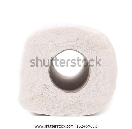 Clean white toilet paper - stock photo