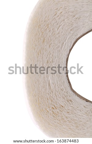 Clean white toilet paper. Close up. Whole background. - stock photo