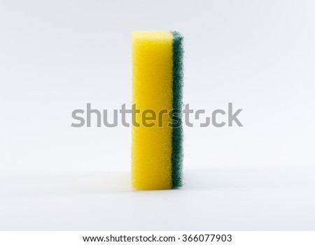cleaners, detergents, household cleaning sponge - stock photo